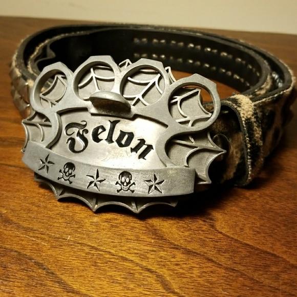 Felon bottle opener/money clip steel belt buckle